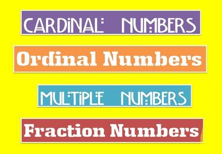 Gambar Jenis-Jenis Bilangan dalam Bahasa Inggris