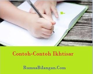 Contoh Ikhstisar