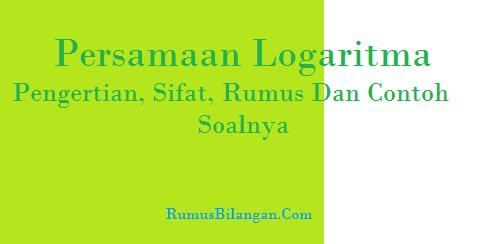 Persamaan Logaritma