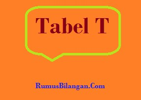 Tabel t