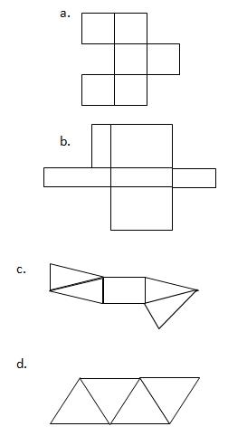 prisma segitiga jaring jaring