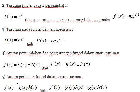 rumus diferensial matematika