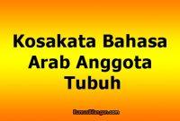 Kosakata Bahasa Arab Anggota Tubuh