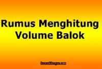 Rumus Menghitung Volume Balok