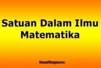 Satuan Dalam Matematika