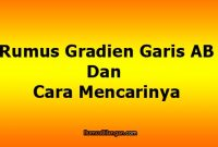 Pengertian Gradien Garis AB, Rumus Dan Cara Mencarinya