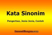 Pengertian Sinonim Kata
