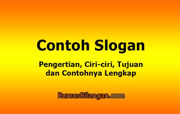 Contoh Slogan