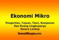 Ekonomi Mikro - Pengertian, Tujuan, Teori Dan Ruang Lingkupnya