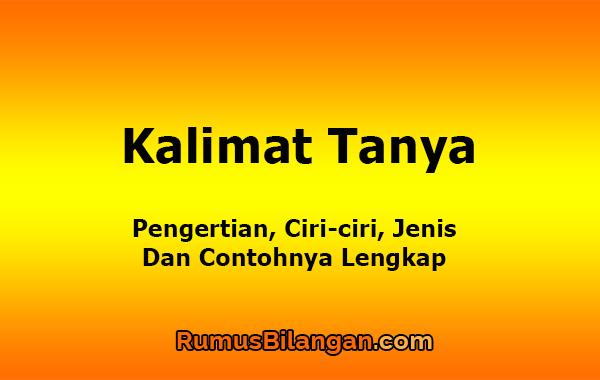 Kalimat Tanya