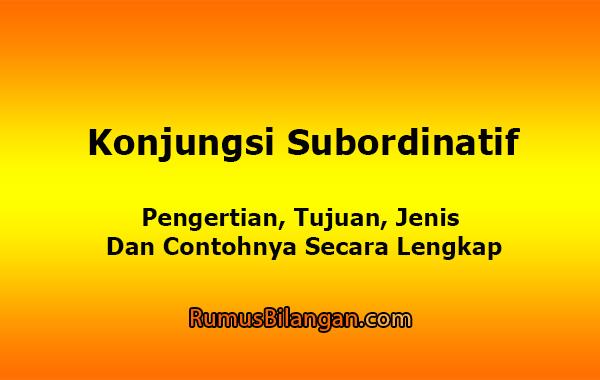 Konjungsi Subordinatif
