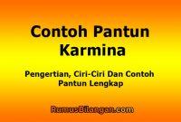 Contoh Pantun Karmina