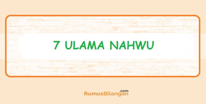 7Ulama Nahwu
