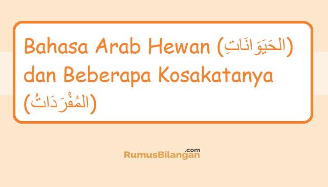 Bahasa Arab Hewan dan Kosakatanya