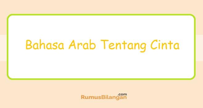 Bahasa Arab Tentang Cinta