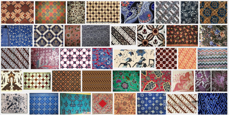 Berikut beberapa contoh motif batik di nusantara.