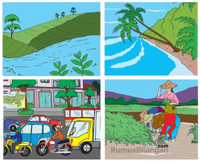 Materi Pembelajaran Halaman 29 Mengenai Penambakan Alam Daratan Dan Perairan