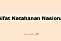 Sifat Ketahanan Nasional