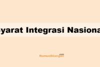Syarat Integrasi Nasional