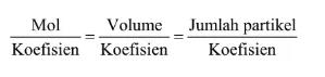 rumus persamaan kimia berikut