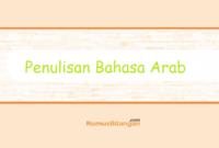 penulisan bahasa arab