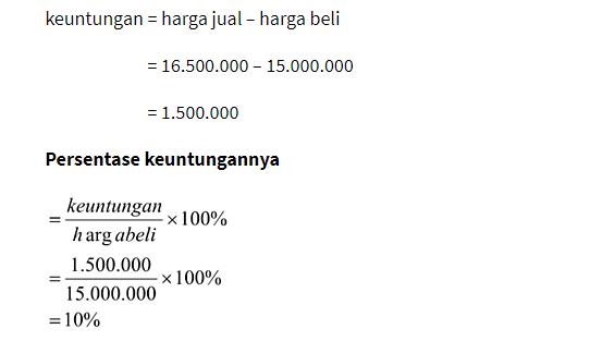 persentase keuntungan