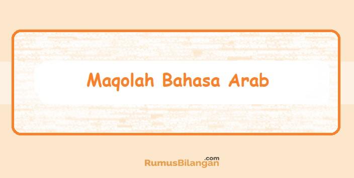 Maqolah Bahasa Arab