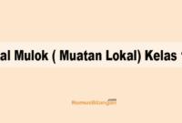 Soal Mulok ( Muatan Lokal) Kelas 12