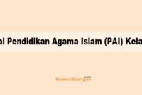 Soal Pendidikan Agama Islam (PAI) Kelas 4