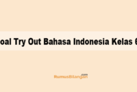 Soal Try Out Bahasa Indonesia Kelas 6
