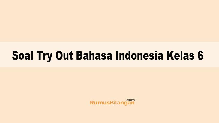Soal Try Out Bahasa Indonesia Kelas 6 Sd Dan Kunci Jawaban
