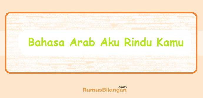Bahasa Arab Aku Rindu Kamu