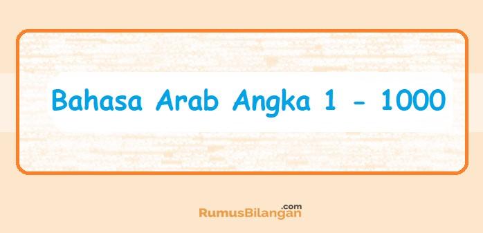 Bahasa Arab Angka 1 Sampai 1000