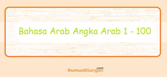 Bahasa Arab Angka Arab 1 - 100