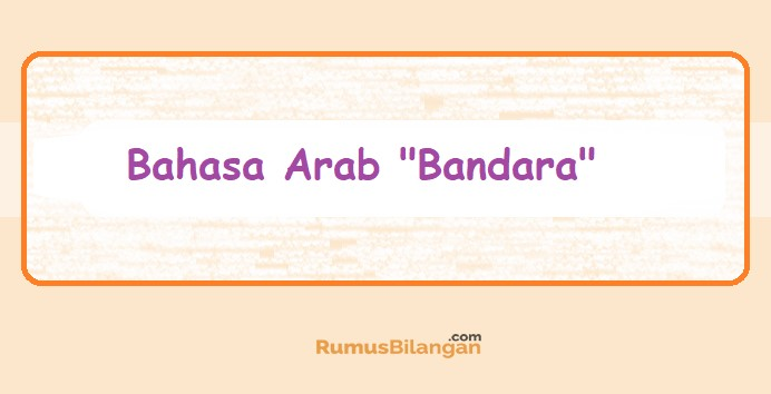 Bahasa Arab Bandara