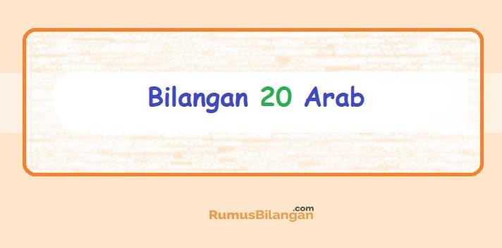 Bilangan Bahasa Arab 20
