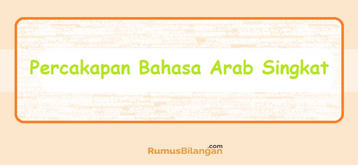 Percakapan Bahasa Arab Pemula