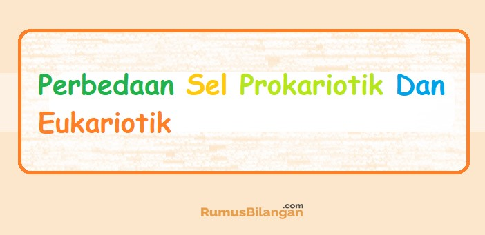 Pengertian Dan Perbedaan Sel Prokariotik Dan Eukariotik Dll